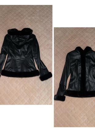 Качественная кожаная куртка с шикарной норкой