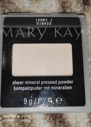 Компактна мінеральна пудра ivori 1 слонова кість 1