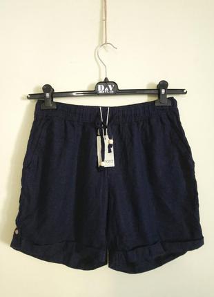 Темно-синие льняные шорты esmara