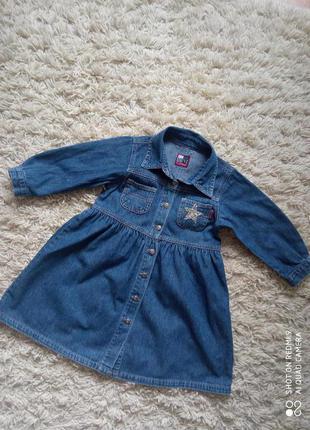 Крутое джинсовое платье для малышки