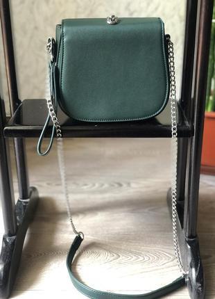 Клатч сумка miniso new изумруд