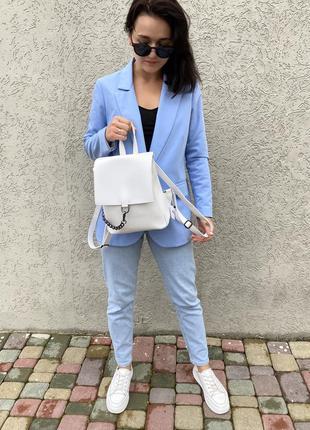 Стильний рюкзак білого кольору new