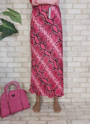 Фирменная f&f с биркой бельевого стиля юбка миди со 100 % вискозы, размер хл