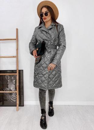Пальто с поясом , осеннее пальто , пальто на подкладе