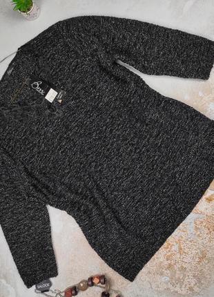 Свитер джемпер кофта модная новая нарядная с люриксом xl