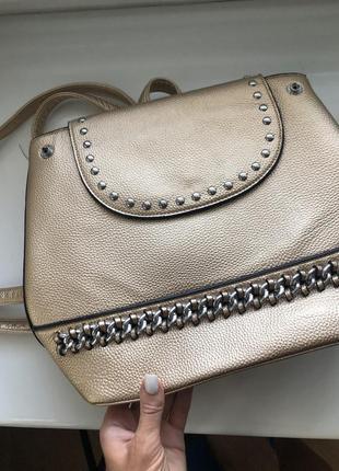 Рюкзак женский  золотой