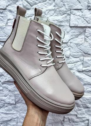 36-41 рр деми/зима хайтопы, ботинки на платформе натуральная кожа