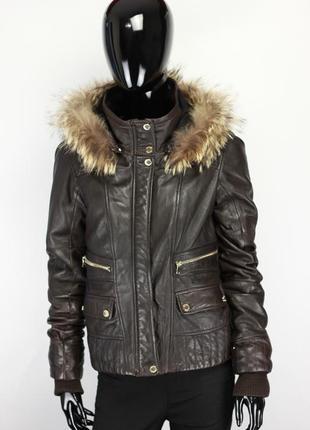Фирменная утепленная кожаная куртка в стиле imperial gipsy vera pelle