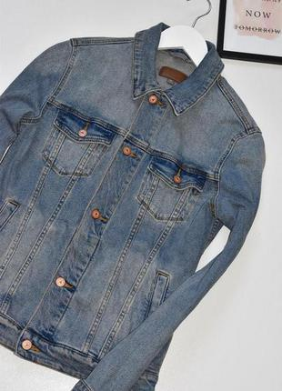 Sale asos стильная джинсовая куртка с мужского плеча