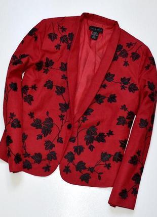 Sale silkland красивый жакет с вышивкой в составе шелк