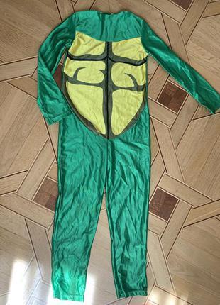 Костюм черепашки ниндзя 6-8 лет черепашка, 122-134 см ніндзя turtles леонардо