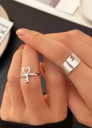 Парные кольца ключик
