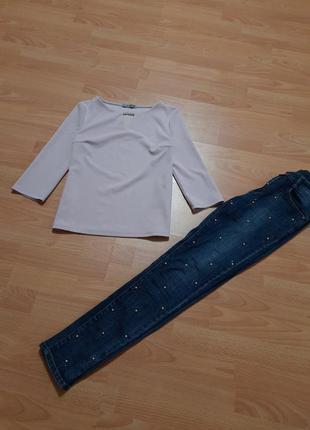 Goldi нежная блуза кофточка топ с жемчугом