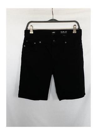 Чёрные шорты h&m джинсовые