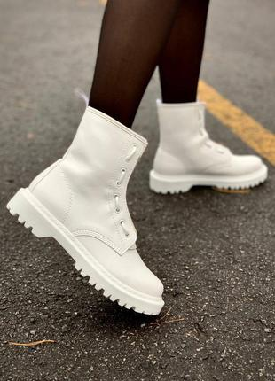 Ботинки dr. martens 1460 sinclair mono white lux черевики