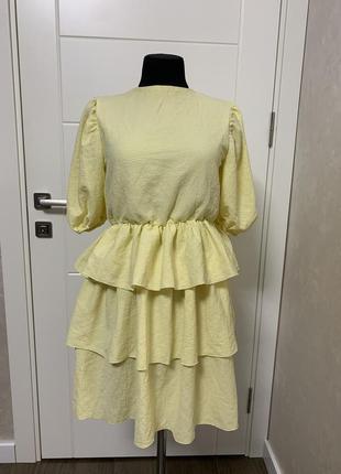 Лимонное платье, xs/s