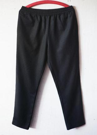 Шерстяные брюки на резинке harmony paris 100% шерсть