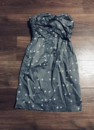 Платье бандо бренд в горошек новое состояние новый год
