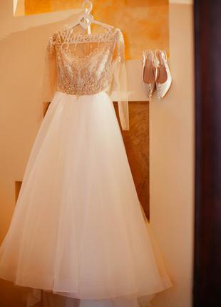 Свадебное платье от vasylkov abelie р.46