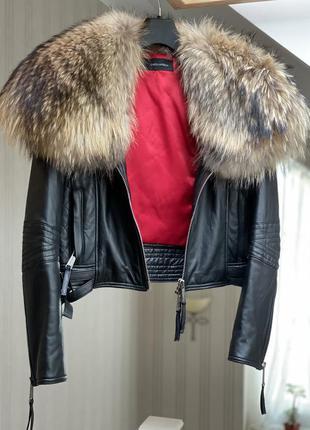 Кожаная куртка dsquared оригинал