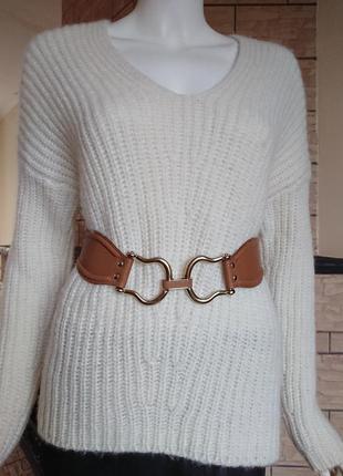 Reiss женский кожаный пояс сзади на резинке  размер s
