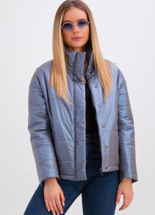 Дутая куртка с воротником-стойкой размеры 42,44,46,48 (333)