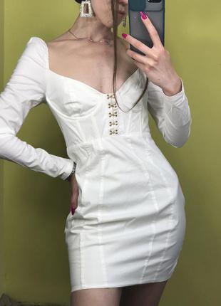 Платье с имитацией корсета oh polly
