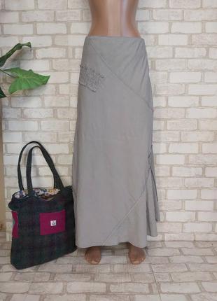Новая нарядная юбка в пол/длинная юбка на 82%район в сером цвете, размер м-ка