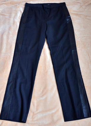 Премиум брюки cos, 100% шерсть и натуральная кожа