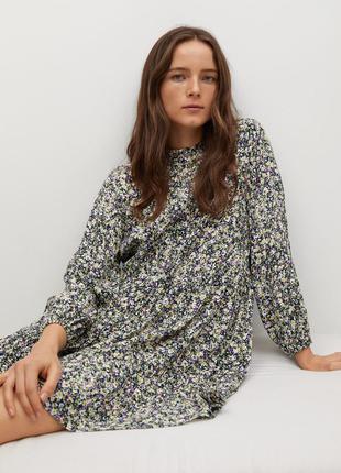 🌿 свободное платье с флористическим принтом от mango