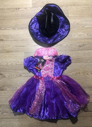 Платье ведьма новое на 1-2 года