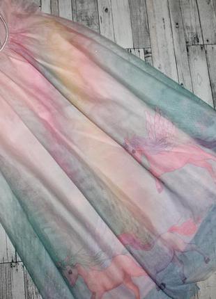 Красивое фатиновое платье с единорогами h&m