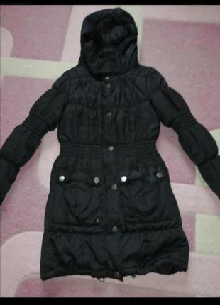Пальто куртка стеганая пуховик на синтепоне