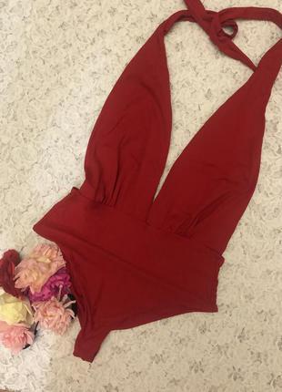 Красный сдельный купальник бразилиано subduet, s.