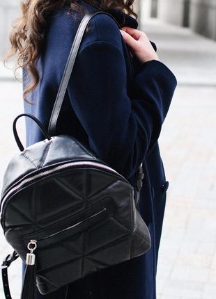 Рюкзак портфель стеганый геометрия