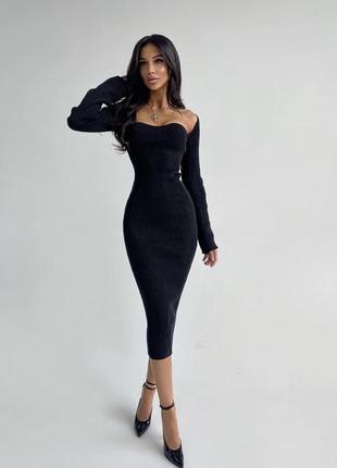 Женское трикотажное платье 🍁