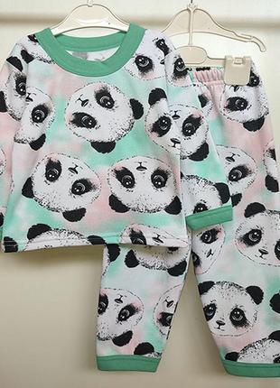 Пижама для девочки с начесом рост 86см-128см