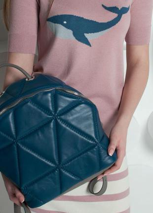Рюкзак портфель стеганый геометрия / цвет на выбор с палитры