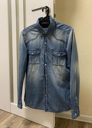 Мужская джинсовая рубашка junker