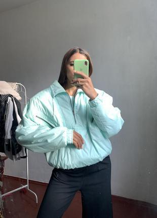 Бирюзовая куртка анорак