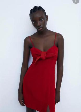 Льняное платье zara.