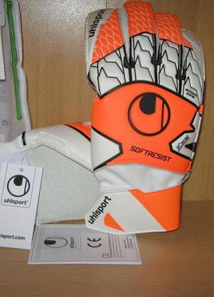 Вратарские перчатки uhlsport soft resist р.8,5 новые germany
