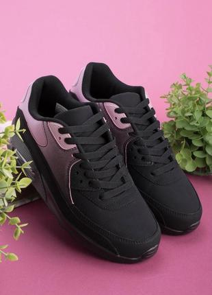 Жіночі чорно-рожеві кросівки