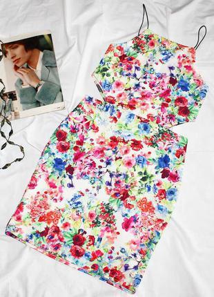 Платье в цветочный принт с вырезами на талии boohoo