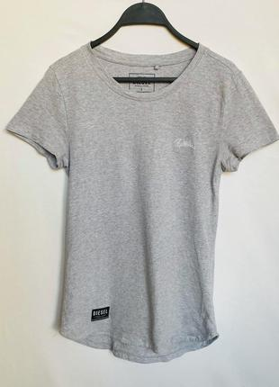 Серая хлопковая футболка diesel оригинал