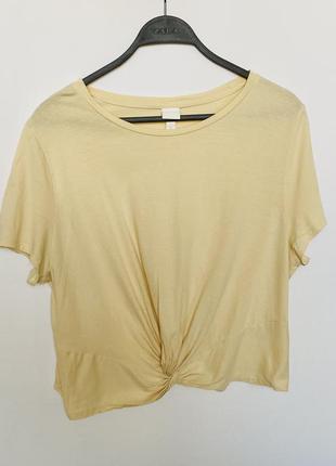 Красивая лимонная футболка h&m