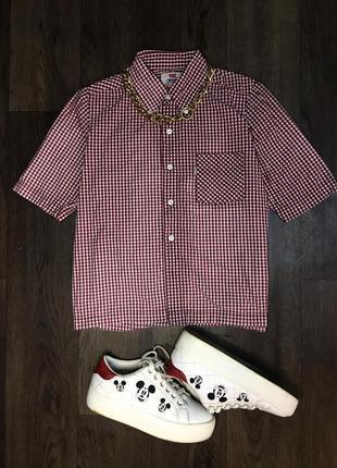 Levi's рубашка в клетку клетчатая levis красная короткая оригинал