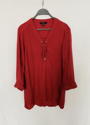 Красная рубашка блуза atmosphere