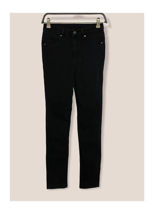 Чёрные скини джинсы h&m &denim