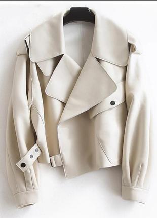 Куртка косуха эко кожа оверсайз